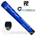 P2 Reflex TOUR Giant Putter Grip - Blue / Grey