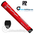 P2 Reflex TOUR Giant Putter Grip - Red / White