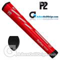P2 Reflex TOUR Giant Putter Grip - Red / Grey
