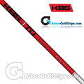 "KBS TD 40 Wood Shaft (46g-47g) - 0.338"" Tip - White Gloss / Red"