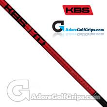 """KBS TD 60 Wood Shaft (60g-63g) - 0.338"""" Tip - Black / Red"""