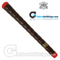 The Grip Master Pittards Leather Tour Wrap Pro Grips - Black / Red