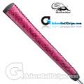 Iguana Golf Snake Skin Leather Pistol Putter Grip (Side Detail) - Purple / Black