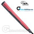 Iguana Golf Classic Velvet Midsize Paddle Putter Grip - Red / Black