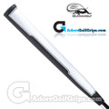 Iguana Golf Classic Velvet Midsize Paddle Putter Grip - White / Black