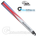 Iguana Golf Wrap-Flag Tri-Palm Jumbo Putter Grip - Red / White / Blue