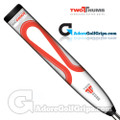 2 Thumb Big Daddy Light Putter Grip - White / Red