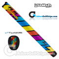 TourMARK Loudmouth Captain Thunderbolt Midsize Pistol Putter Grip - Blue / Red / Yellow / Purple