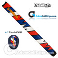 TourMARK Loudmouth Captain Thunderbolt Midsize Pistol Putter Grip - Blue / Red / White