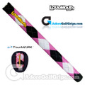 TourMARK Loudmouth Argyle Midsize Pistol Putter Grip - Black / Pink / White