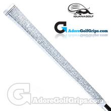 Iguana Golf Classic Velvet Midsize Half Cord Grips (Side Detail) - White