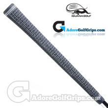 Iguana Golf Classic Velvet Midsize Half Cord Grips (Side Detail) - Black
