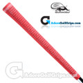 Iguana Golf Classic Velvet Midsize Half Cord Grips (Side Detail) - Red