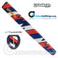 TourMARK Loudmouth Captain Thunderbolt Jumbo Pistol Putter Grip - Blue / Red / White