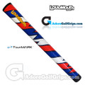 TourMARK Loudmouth Captain Thunderbolt Grips - Blue / Red / White