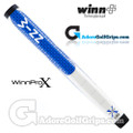 "Winn Pro X 1.18"" Midsize Paddle Lite Putter Grip - Blue / Cool Grey / White"