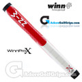 "Winn Pro X 1.18"" Midsize Paddle Lite Putter Grip - Red / Cool Grey / White"