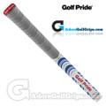 Golf Pride New Decade Multi Compound Platinum Midsize Grips - Grey / Blue / Red / White