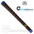 The Grip Master Pittards Leather Tour Wrap Pro Grips - Black / Blue