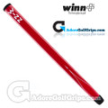 Winn 15 Inch Long Pistol Counterbalance Putter Grip - Red / White