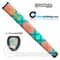 TourMARK Loudmouth Just Peachy Jumbo Pistol Putter Grip - Peach / Green