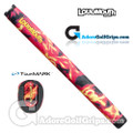 TourMARK Loudmouth Liar Liar Midsize Pistol Putter Grip - Red / Yellow / Black