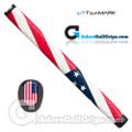 TourMARK USA Midsize Pistol Putter Grip - Red / White / Blue