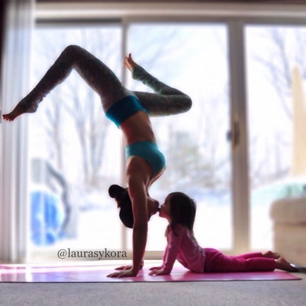 Bringing Mommy & Me Yoga to new heights...literally ...