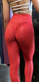 BohnoFitWear Shiny Red Wallpaper Legging