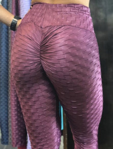 BohnoFitWear Shiny Acai Wallpaper Legging