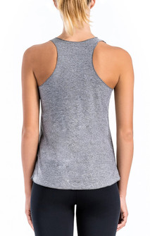 Brazil Wear Heather Grey Sienna Relaxed Racer Back Tank