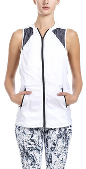 Brazil Wear White Lorena Hooded Vest