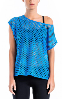 Brazil Wear Kauai Blue Natalia Perforated Dolman