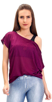 Rola Moca Plum Crackle Top