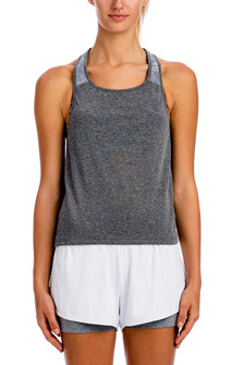 Brazil Wear By LIVE Light Heather Gray Fresh Net Tank