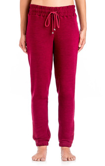 Brazil Wear Black By MEMO Dark Red Missy Joggers
