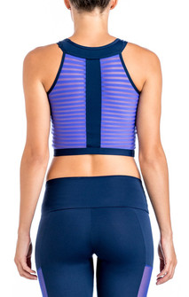 CajuBrasil Dark Blue Modern Crop Top