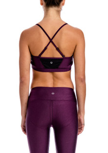 Brazil Wear Aubergine Luminous Aurora Adjustable Strap Bra