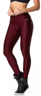 Vestem Verticle Striped Burgundy Legging
