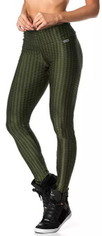 Vestem Verticle Striped Army Green Legging