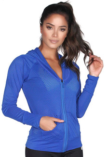 Protokolo Electric Blue Candy Crush Mesh Jacket