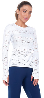 Bia Brazil Embroidered Flower Long Sleeve Top