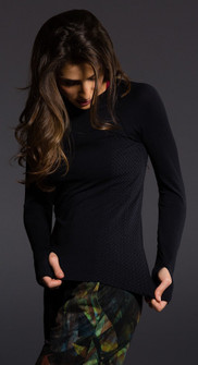 Onzie Black Long Sleeve Crew Tee
