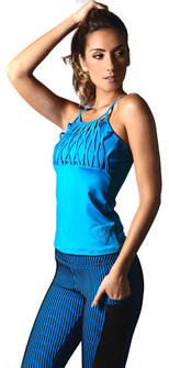 Equilibrium Winter Blue Matrix Top