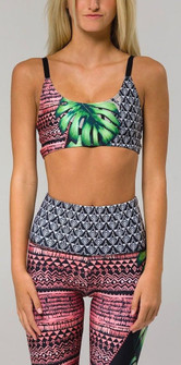 Onzie Brazilian Jungle Print Bra Top