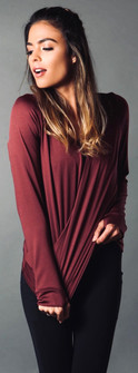 Equilibrium Long Sleeve Plum Cover
