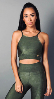 Equilibrium Green Jungle Print Top