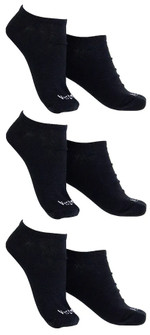 Vestem 3 Pack Black Crew Socks