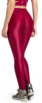 Vestem Glossy Red Booty Scrunch Legging