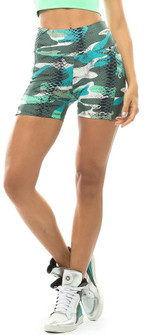 Vestem Green Camo Animal Print Short